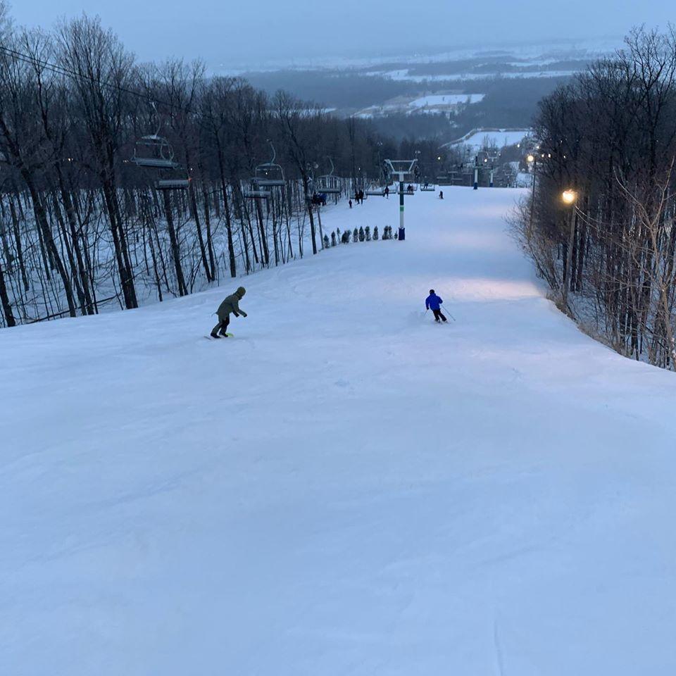 Ski Saint-Bruno - Un début de tempête....