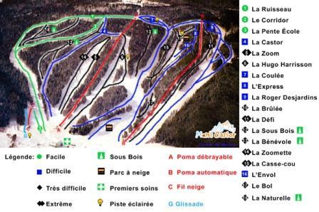 Mont Castor Carte des pistes Conditions de ski RSA
