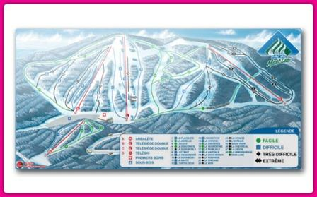 Mont Comi Conditions de ski RSA - Carte des pistes