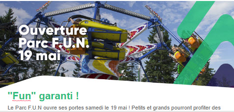 Les Sommets - Ouverture du Parc Fun - 19 mai 2018