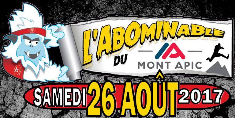 Mont Apic - L'Abominable du Mont Apic ce samedi et dimanche août