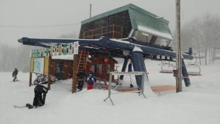 Mont Rigaud - Le vent tourne et la neige s'accumule