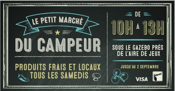 Mt Sainte-Anne - Un Petit Marché du Campeur pour l'été!