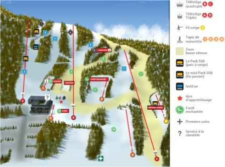 Ski Saint Bruno Carte des piste Conditions de ski RSA