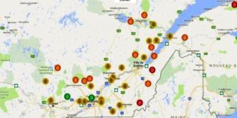 QuébecOriginal - Vous présente la carte des couleurs automnales