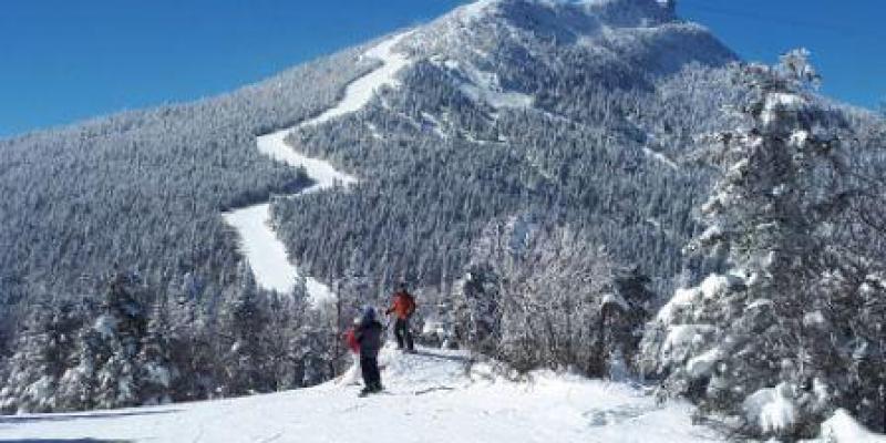 Jay Peak - Des conditions de neige étaient presque parfaites.