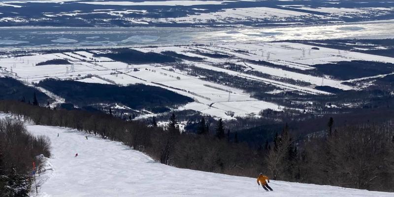 Mont Ste-Anne, Des heures de bonheur sur mes skis