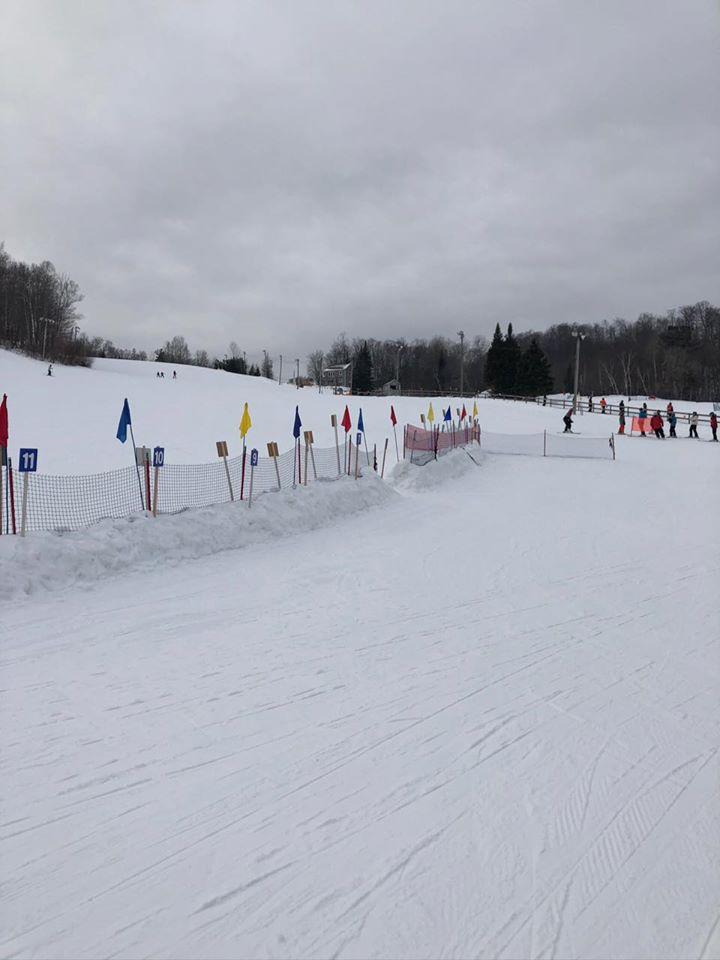 Sommet Gabriel - Nous skions sur beaux dénivelés