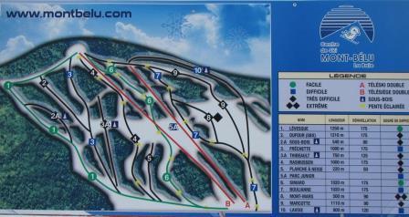 Mont Belu carte des pistes