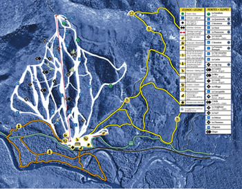 Pin Rouge Conditions de ski RSA