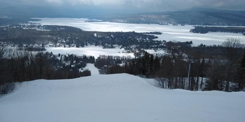 Ski Garceau, Saint Donat - Le blanc vous donne des couleurs