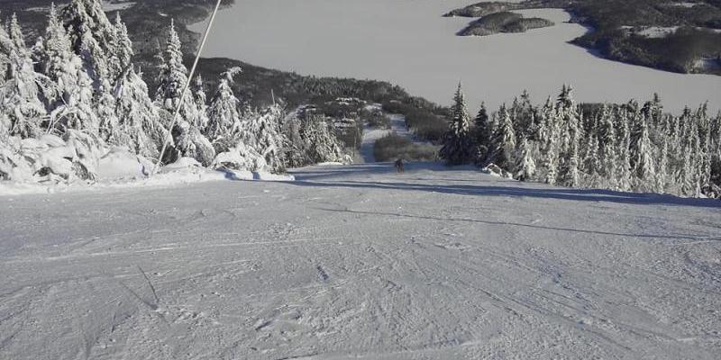 Mont Owl's Head - De bonnes conditions de glisse, damé très durable
